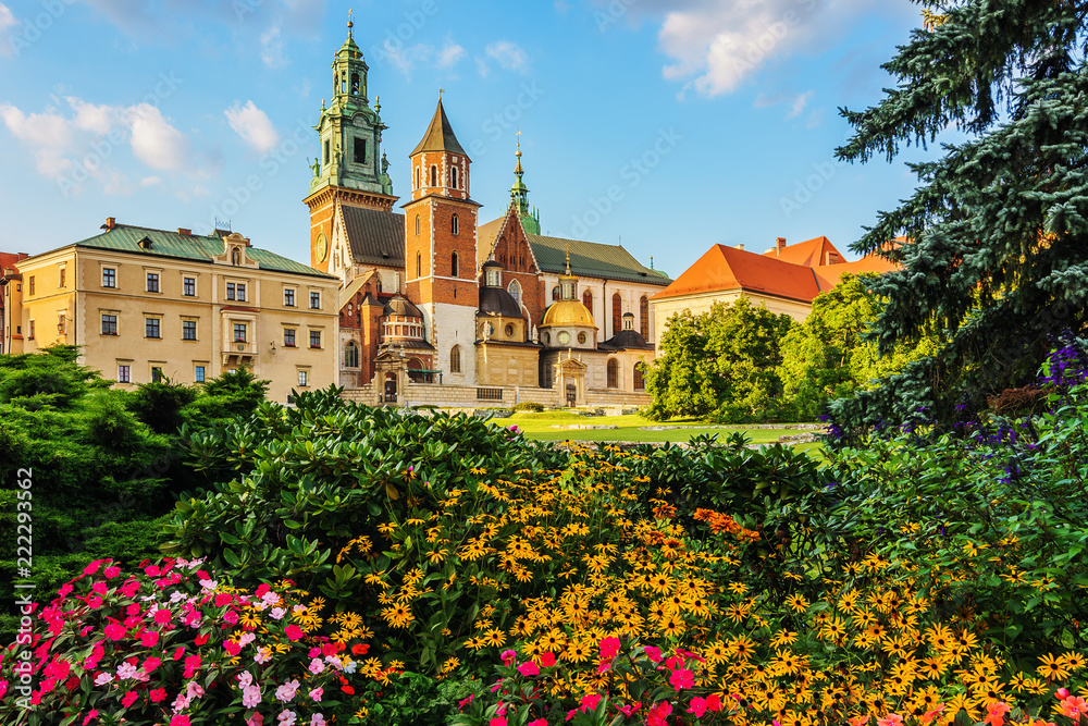 Obraz Krakow - Castle of Wawel is one of the main travel attractions - One of The Main symbol of Krakow fototapeta, plakat