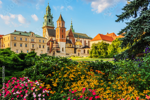 Fototapeta Krakow - Castle of Wawel is one of the main travel attractions - One of The Main symbol of Krakow obraz