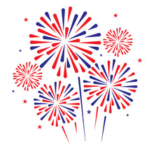 Fire Work Background. Vector I...
