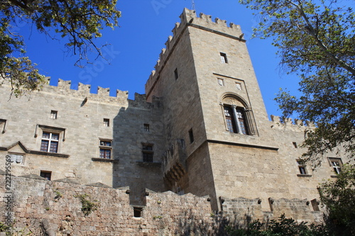 the Grand Master of the Knights of Rhodes - a medieval castle in the city of Rhodes, on the island of Rhodes in Greece
