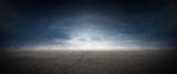 Asphalt Beton Strasse mit Wolken Himmel Horizont Panorama