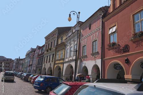 Foto  Litomysl, Czech Republic-AUGUST 20, 2018: Smetanovo square is main square in historical town