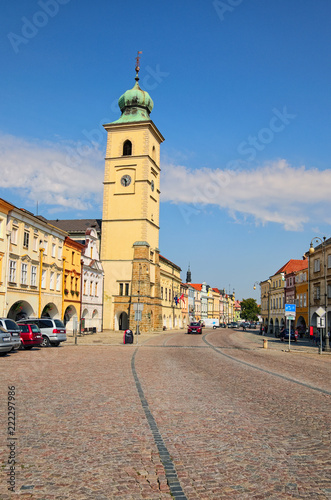 Foto  Litomysl, Czech Republic-AUGUST 20, 2018: Smetanovo square is main square in Litomysl