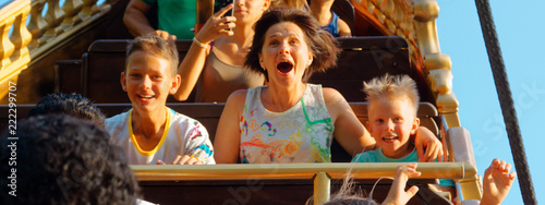 Garden Poster Amusement Park emotional portraits of people park attractions.