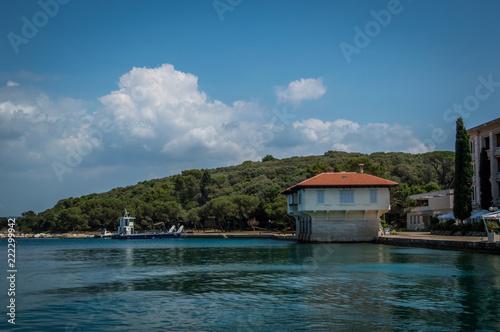 Spoed Foto op Canvas Zee zonsondergang Brijuni Croatia