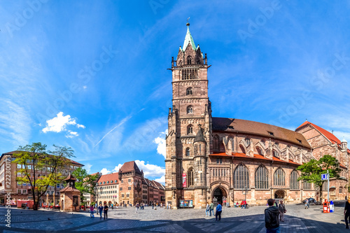 Spoed Foto op Canvas Europese Plekken Sankt Lorenz Kirche, Nürnberg