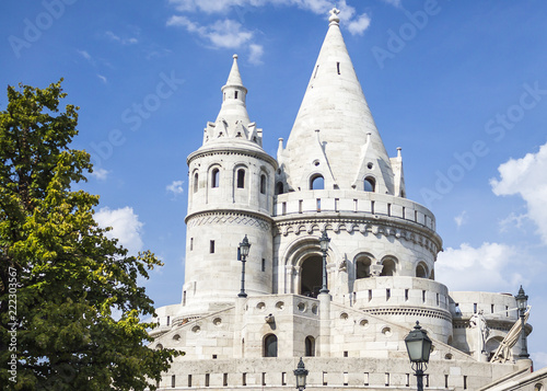Tower of Fisherman's Bastion Close up. Budapest, Hungary Tapéta, Fotótapéta