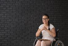 Female Teacher In Wheelchair N...