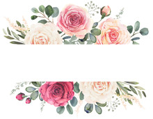 Watercolor Floral Frame Compos...