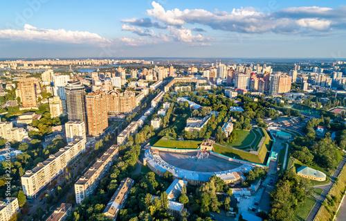 In de dag Centraal Europa View of the Kiev Fortress in Ukraine
