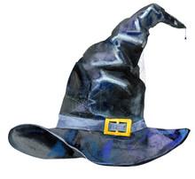 Halloween Hat Isolated, Waterc...
