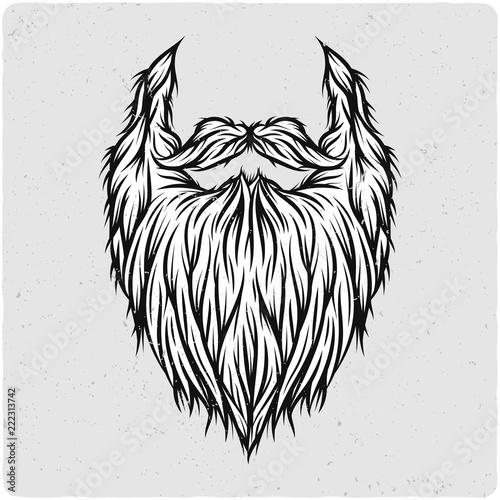 Canvas Print Long beard