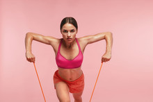 Workout. Woman Training With R...