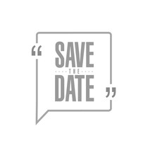 Save The Date Modern Stamp Mes...