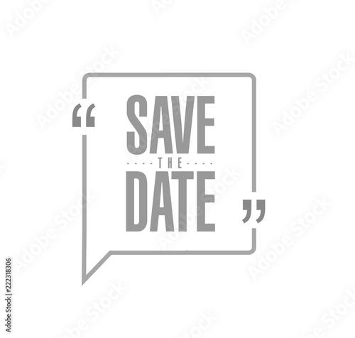 Fotografía  save the date Modern stamp message design