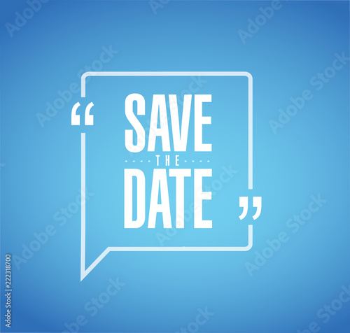 save the date Modern stamp message design Canvas-taulu