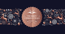 Merry Christmas Copper Luxury ...