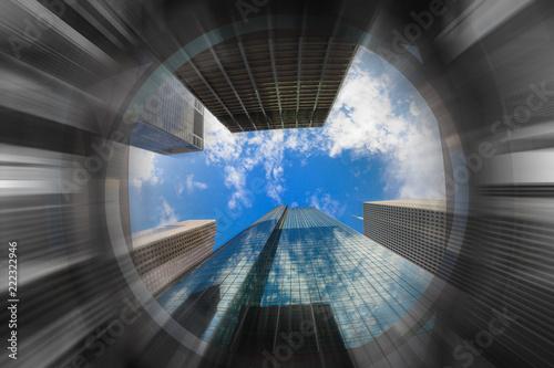 Skyscraper Jungle Blur Fototapeta
