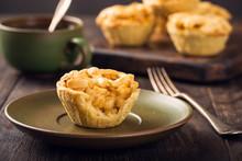 Homemade Mini Apple Pie On Gre...