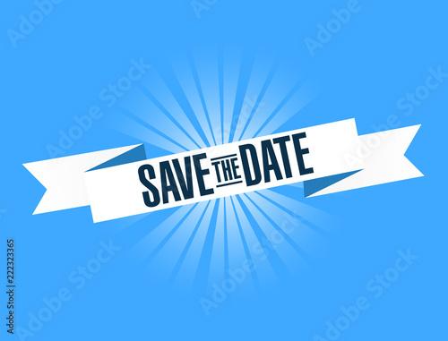 Fotografia, Obraz  Save the date bright ribbon message