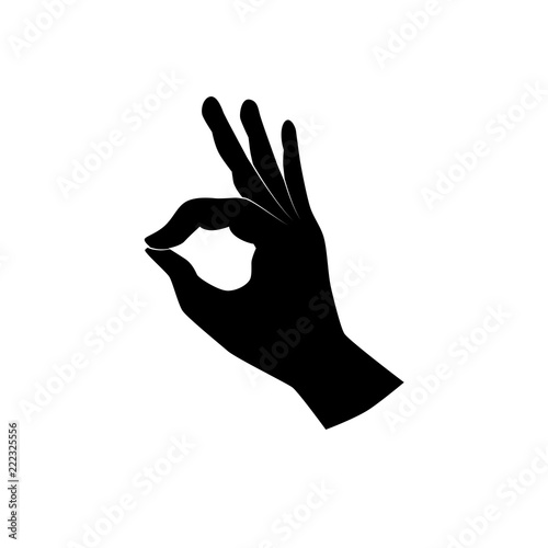 Stampa su Tela Ok, good, yes, perfect - hand gesture icon. Vector art.