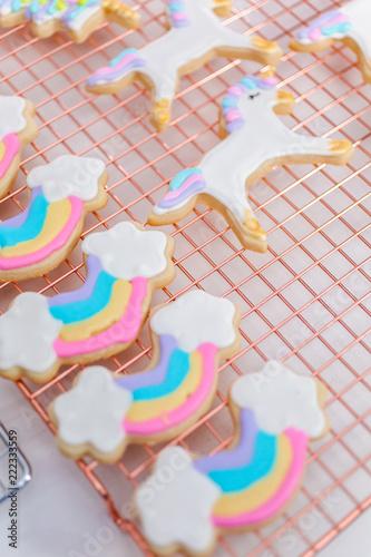 Unicorn themed cookies