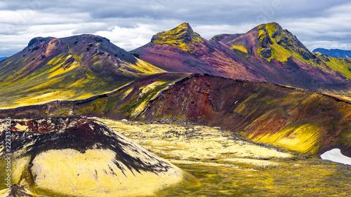 Fototapety, obrazy: Beautiful colorful volcanic mountains Landmannalaugar in Iceland