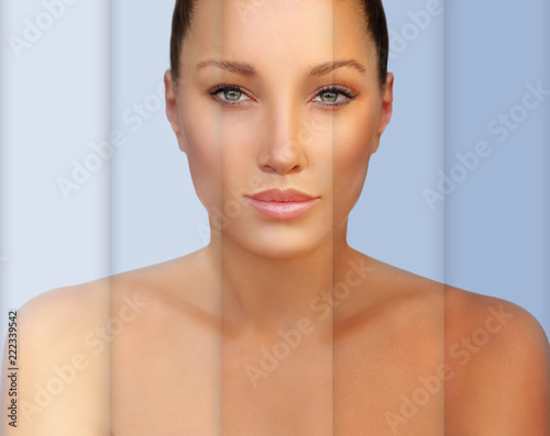 Beauty visual about suntan Fotobehang