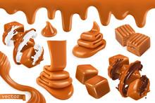 Sweet Caramel, Set Realistic 3...