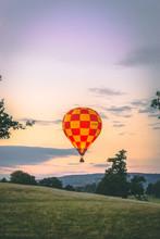 Hot Air Balloon Over Chatsworth