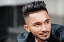 Stylish Indian Beard Man At Bl...