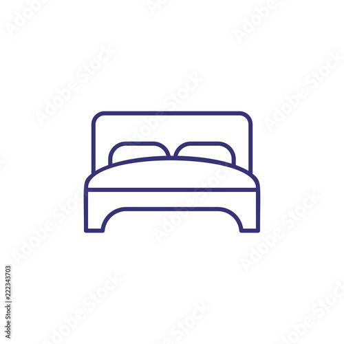 Fotografia  Double bed line icon