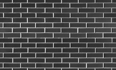 Vintage Seamless Black wash brick wall texture for design. Background for your text or image.
