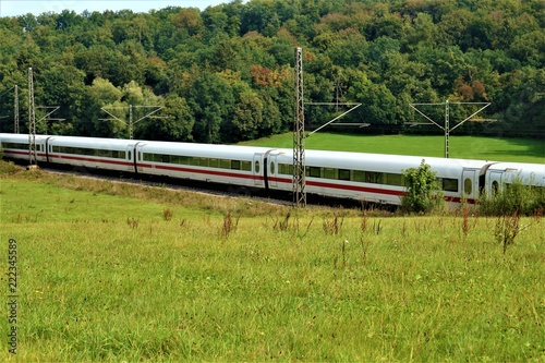 Foto op Canvas Spoorlijn Wald - Wasser - See - Spiegelung