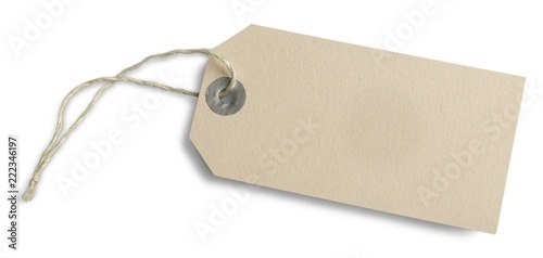 Fotografia Label blank tag add text blank greeting card add your own