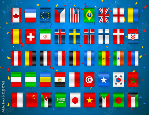 Fotografía Set of Flags of world sovereign states