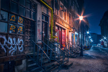 Beautiful Old Alley With Old B...