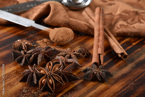 Star Anise and Cinnamon Spices