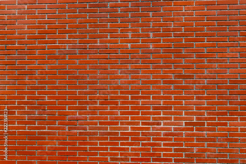 Background of red bricks with cement