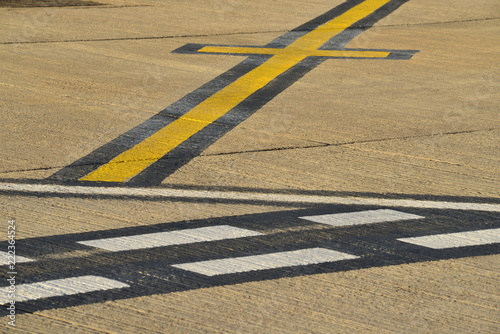 Airport runway, Jersey, U.K.