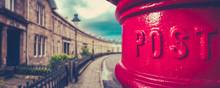 British City Post Box Panorama