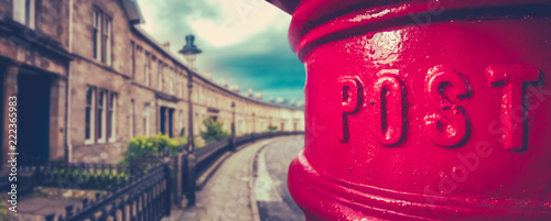 Foto op Plexiglas Londen rode bus British City Post Box Panorama