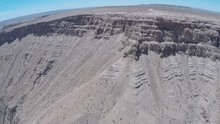 Namibia, Africa - Copter Flight Over The Cliffs Of Fish River Canyon