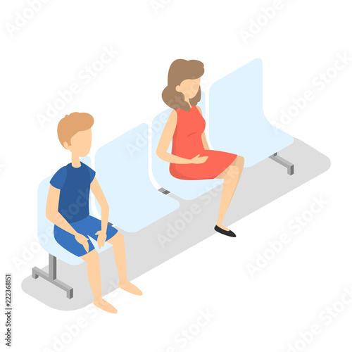 Astounding Girl And Boy Sitting On The Chair Buy This Stock Vector Gmtry Best Dining Table And Chair Ideas Images Gmtryco