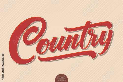 Plakaty Gatunki Muzyczne   country-music-vector-volumetric-hand-drawn-lettering-3d-elegant-modern-handwritten-calligraphy-music-ink-illustration-typography-poster-for-cards-invitations-promotions-posters-banners-etc