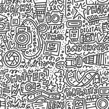 Photo Doodle Seamless Pattern