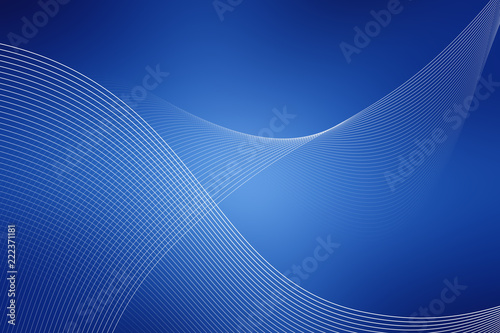 In de dag Abstract wave blue, background, backdrop, ground, blurred, blue, abstract, light, design, texture, wallpaper, wave, illustration, color, art, graphic, sky, backgrounds, basis, base, framework, blur, pattern,digital