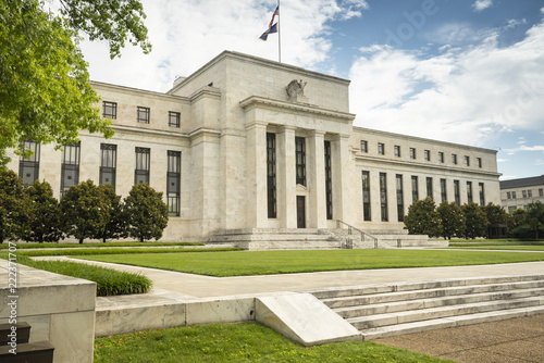 Foto op Plexiglas Historisch geb. Federal Reserve financial policy building in Washington DC USA