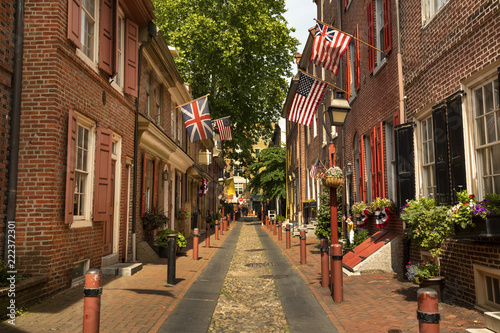 Fotografía  Elfreths Alley is the Oldest Residential Street in the United States Philadelphi