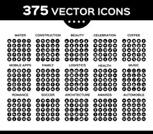 Pack Of Icons, Vector Collecti...